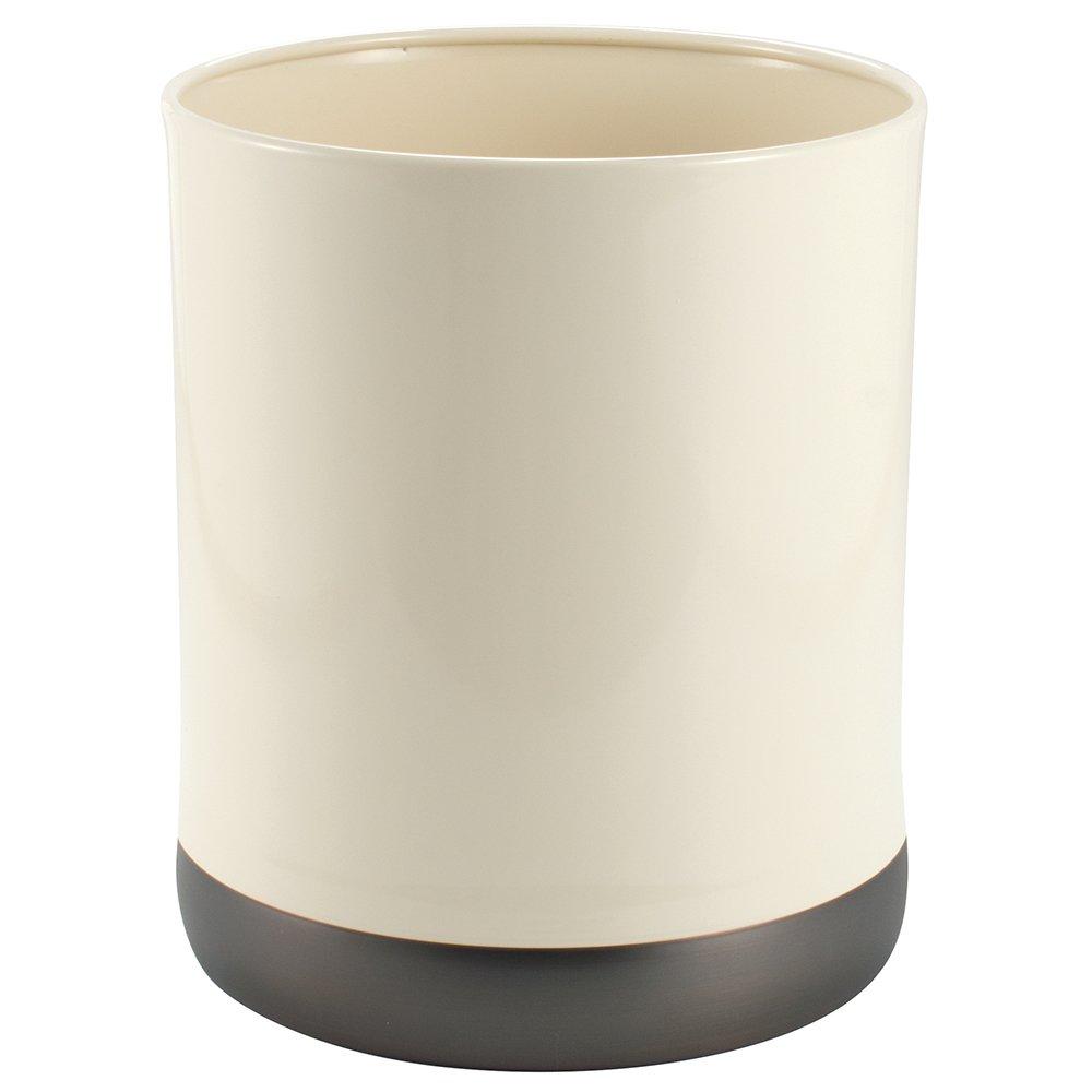 Ivory//Bronze InterDesign Ashley Bar Soap Dish for Bathroom Vanities Kitchen Sink