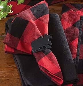 Buffalo Check Dinner Napkin, Set of 4 Lodge Style Linens