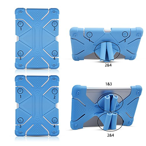 Universal Tablet Case, Shockproof Stand for New iPad 2018, Galaxy Tab 9.7 Kindle