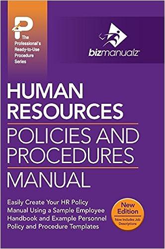 Human Resources Policies and Procedures Manual: Bizmanualz ...