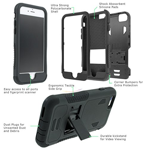 NakedShield Iphone 6 (4.7) (US Airforce) Armor Tough ShockProof Phone KickStand Case