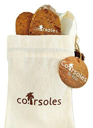 Coirsoles Eco-Friendly Coconut Fiber Shoe Insoles With Cotton Carry Case (Men's US 8-12/EU 41-45)