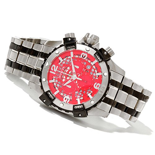 Invicta Mens Sea Thunder Swiss 5040.D Chronograph Red Dial Two Tone Bracelet Watch 80236 ()
