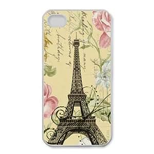 iPhone 4,4S Cases Cell phone Case Paris Eiffel Tower Ehmoc Plastic Durable Cover