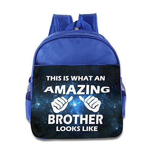 Price comparison product image OurLove This Is With An Amazon Brother Kid Bookbag Backpack Fashion Size Size Key RoyalBlue