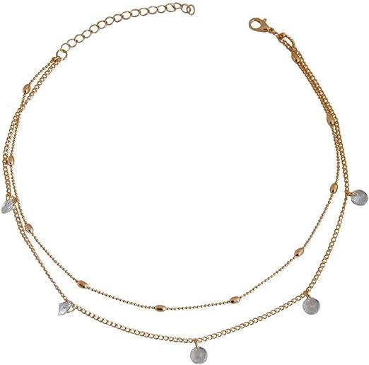 💦Qiiueen💦Collares Mujer, Perlas De Doble Capa, Collar De Circonitas Colgantes: Amazon.es: Juguetes y juegos