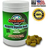 Active Chews Premium Probiotics for Dogs with Digestive Enzymes for Dogs from Relieves Dog Diarrhea Upset Stomach Bad Breath Hot Spots for Dogs - 120 Chews with 4 Bill CFUs/2 Chews