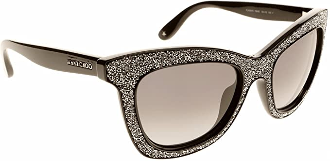 ed06f3fbd11 Amazon.com  Jimmy Choo Sunglasses - Flash S   Frame  Shiny Black ...