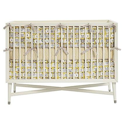 DwellStudio Fitted Crib Sheet Checkered Blossom