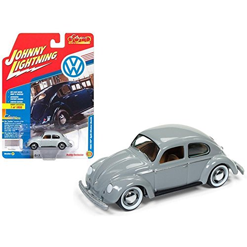 Johnny Lightning 1950 Volkswagen Split Window Beetle Pearl Gray Limited Edition to 1800pc Worldwide Hobby Exclusive \Classic Gold\ 1/64 Diecast Model Car - Johnny Lightning Classic Car