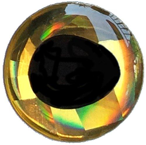 Brule 3-D Hard Epoxy Eyes (Gold, 8mm)