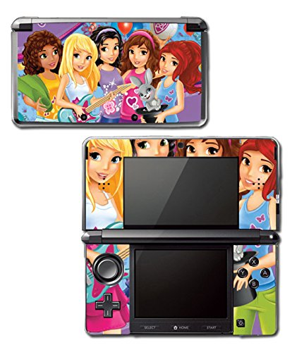 Girl Friends Toy Jungle Mall Mia Olivia House Video Game Vinyl Decal Skin Sticker Cover for Original Nintendo 3DS System