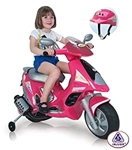 INJUSA Scooter Duo Girl 6V Ride On with Helmet