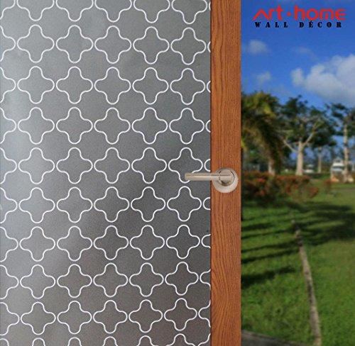 Arthome 90 x 254 CM Ventana de privacidad Películas de vidrio Sin adhesivo Esmerilado esmerilado de color blanco Protección...