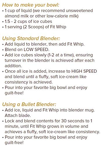 Fit Whip Frozen Treat Mix, Chocolate Flavor   High Protein   Low Carb   Low Fat   High Fiber   Sugar Free   Gluten Free   Keto Friendly   Macro Friendly   WW Friendly   13 Servings by Fit Whip (Image #9)