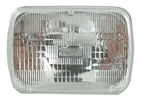 Rectangle Shaped Sealed Beam Headlight Headlamp for Ford Toyota Pickup Truck GM ()