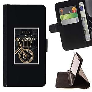For Samsung Galaxy Note 3 III Case , Bicicletas Hipster enmarcada Vintage minimalista- la tarjeta de Crédito Slots PU Funda de cuero Monedero caso cubierta de piel