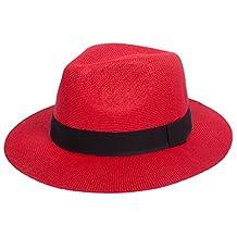 DRY77 Cool Straw Panama Hat Wide Large Flat Brim Fedora Outback Men Women Beach