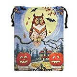 Custom Drawstring Bag,Trick-or-Treat-Halloween Holiday/Party/Christmas Tote Bag 15.7(H)x 11.8(W) in