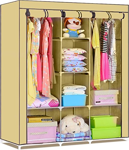 Fancy and Portable Foldable Closet Wardrobe Cabinet Portable ...