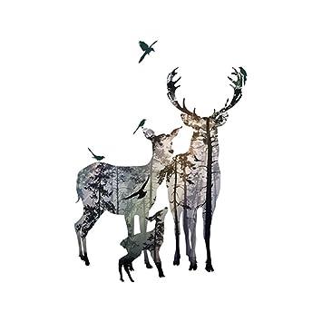 Newin Star DIY Mural 1 juego elegante bosque ciervos de Sika ...