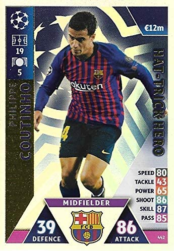 Match Attax Champions League 2018//19 hat-trick Héros Sadio Mane Liverpool