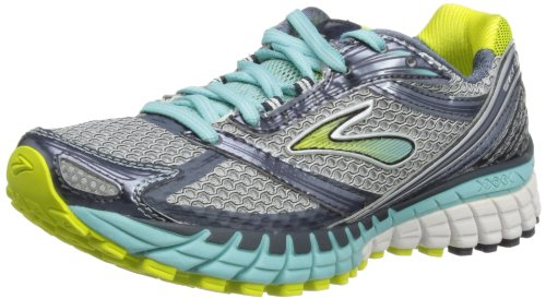 Brooks Womens Ghost 6 W Running Shoes Silver/Sulphur Spring/Midnight/Denim/Aqua Haze hAvxMF
