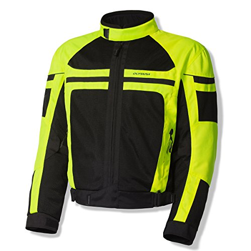 Olympia Sports Newport Mens Mesh Tech On-Road Racing Motorcycle Jacket Neon Yellow Large from Olympia Sports