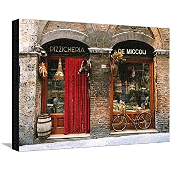 Lovely Canvas Print Wall Art U0027Bicycle Parked Outside Historic Food Store, Siena,  Tuscany,