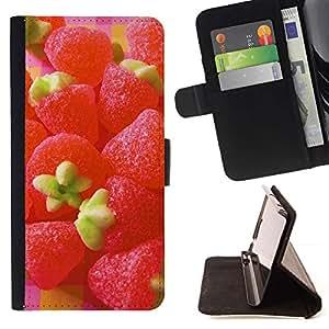 Momo Phone Case / Flip Funda de Cuero Case Cover - Caramelo de la fruta de la fresa Macro - LG G4 Stylus H540