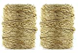 Black Duck Brand 2 Spools of 100% Sisal Garden/All Purpose Twine 190 feet per Spool - 3 Strand Rope (2)
