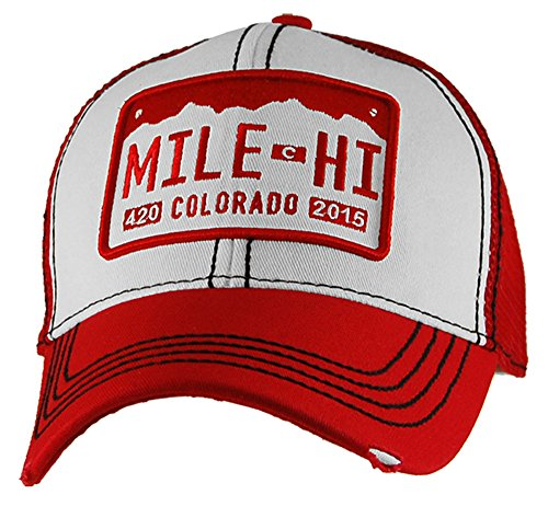 Rally Plate (Colorado Mile Hi License Plate Trucker Hat By Staart Design)