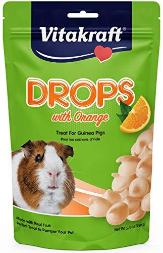 Vitakraft Yogurt Drops - Vitakraft Guinea Pig Orange Drops Treat, 5.3 Ounce Pouch