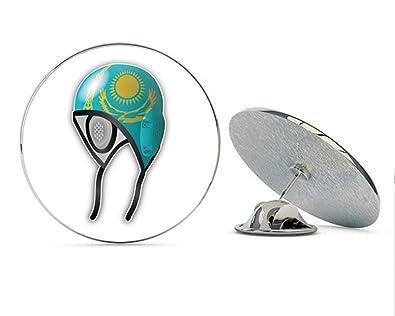 Amazon.com: Kazakhstan Flag Water Polo Cap Round Metal 0.75 ...