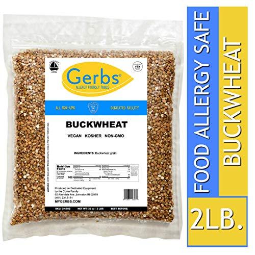 Gerbs Buckwheat Grain - 2 LBS - Top 14 Food Allergen Friendly & NON GMO - Vegan, Keto Safe & Kosher - Product of USA