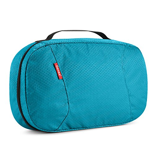 Hanging Toiletry Bag, Gonex Travel Cosmetic Makeup Organizer with Zipper Closure, 8x13 Blue