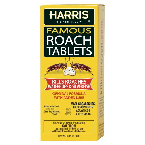 Harris Famous Roach   Silverfish Killer Tablets  6Oz   Treats A Minimum Of 12 Rooms  145  Tablets Included