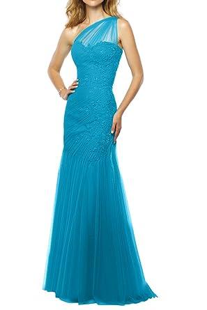 Royaldress Royal Blau Ein-traeger Langes Abendkleider Partykleider  Brautmutter aus Spitze: Amazon.de: Bekleidung