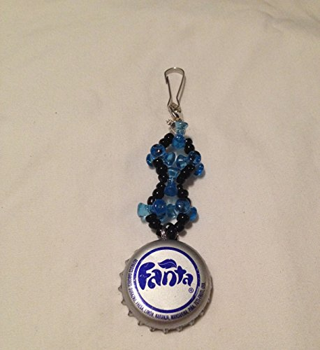 dark-blue-and-silver-fanta-upcycled-bottlecap-and-beads-keychain