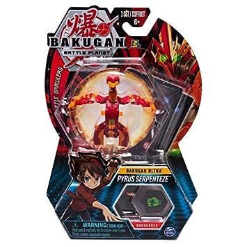 BAKUGAN – Pyrus Serpenteze – 8cm Figura de acción y Tarjeta de Trading
