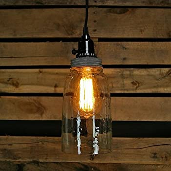 Mason jar lighting 8 light dark bronze pendant light with blue half gallon open bottom mason jar pendant lamp aloadofball Image collections