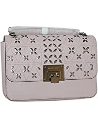MICHAEL Michael Kors Womens TINA Medium Shoulder Flap Leather Evening Studded Handbag (Blossom)