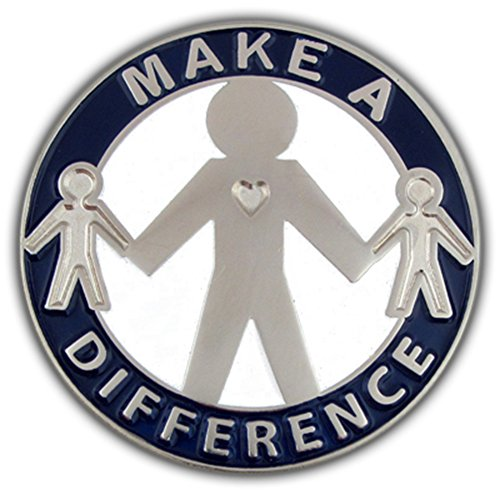 PinMart Make a Difference Motivational Enamel Lapel Pin (Difference Lapel Pin)