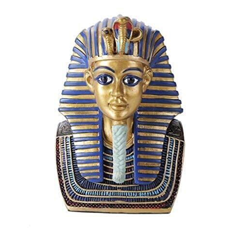 Ky & Co YK Nile River Dynasty Egyptian King Pharaoh Tutankhamun Bust Mask Figurine Statue ()