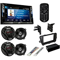 TOYOTA Prius 2010-2015 Dash Kit And Harness +JVC Touchscreen Double Din Bluetooth CD/DVD/AUX/USB Car Radio Stereo+ JVC CS-DR620 6-1/2 2-way car speakers (2Pair)