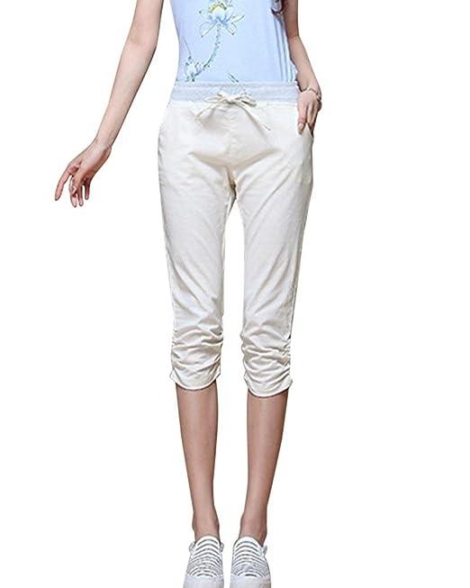 b7a4da07dddc Targogo Gravidanza Pantaloni Pantaloni per Donna Estivi Fashion Eleganti  Elastico High Waist Skinny Colori Solidi Premaman Pantaloni Basic 3 4  Pantaloni ...