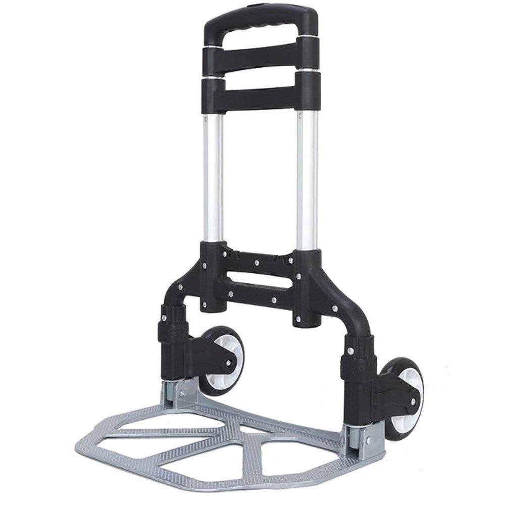 170 lbs Aluminium Luggage Cart Folding Dolly Push Truck Hand Collapsible Trolley by MB-Campstar