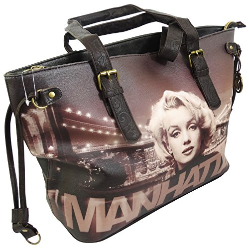 Marilyn Manhattan Borsa da Donna Ragazza a Spalla Shopper Tote