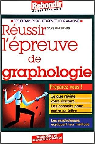 Lire Réussir l'épreuve de graphologie pdf