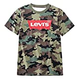 Levi's Boys' Little Classic Batwing T-Shirt, Cypress camo, 6
